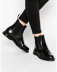 Dr. Martens Черные Ботинки Челси Kensington Flora - Черный