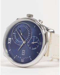 Tommy Hilfiger Horloge Met Blauwe Wijzerplaat - Naturel