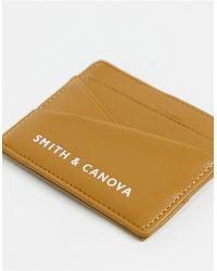 Smith & Canova Кожаная Кредитница Smith & Canova-коричневый Цвет
