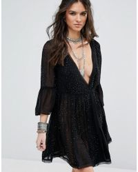 Free People - Winter Solstice Embellished Party Dress - Lyst