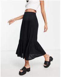 TOPSHOP Tiered Skirt - Blue