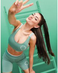 ASOS 4505 Спортивный Бюстгальтер Из Переработанного Полиэстера С Бретельками В Полоску -зеленый Цвет