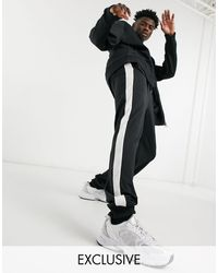 Reclaimed (vintage) - Черные Спортивные Джоггеры Inspired-черный Цвет - Lyst