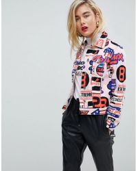 Love Moschino - Highway 95 Printed Biker Jacket - Lyst