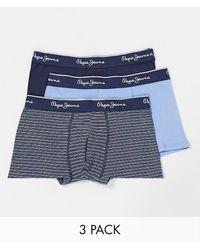 Pepe Jeans Ezra 3-pack Trunks - Blue