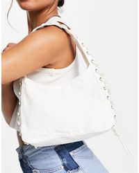Weekday Lydia Shoulder Bag With Lace Detail - White