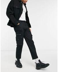 Wesc Pantalones tapered utilitarios - Negro