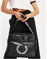 Fred Perry Laurel Wreath Branded Shoulder Bag - Black
