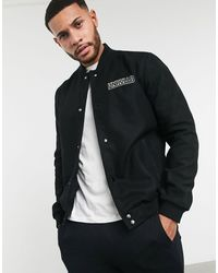 ASOS Unrivalled Supply - Bomber college - Nero