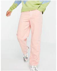 ASOS Розовые Свободные Джинсы Из Вельвета - Розовый