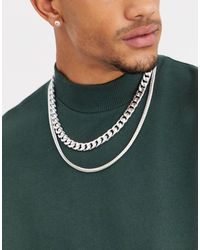ASOS Double Layer Neckchain - Metallic