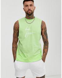 ASOS Ruimvallend Mouwloos T-shirt Met Dark Future Logo - Groen