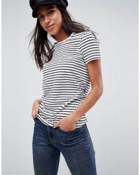 ASOS - Stripe Crew Neck T-shirt - Lyst