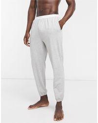 Calvin Klein Sleepwear - Joggingbroek Met Contrasterend Logo Op - Grijs