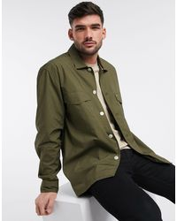 Tommy Hilfiger Зеленая Рубашка Навыпуск -зеленый Цвет