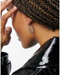 AllSaints Серьги-кольца Овальной Формы С Паве -серебристый - Металлик