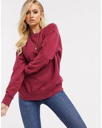 ASOS Oversized Washed Sweatshirt - Natural