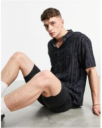 SIKSILK Re-run Shirt - Black