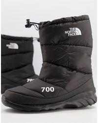 The North Face Черные Ботинки Nuptse 700-черный