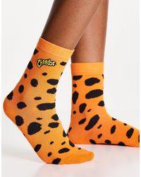 Skinnydip London X Cheetos Logo Socks - Orange
