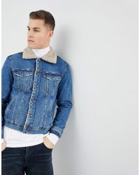 f88842e377 Lyst - Mango Man Denim Jacket In Washed Black in Blue for Men