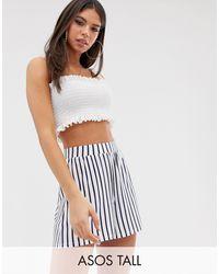 ASOS Pantalones cortos estilo culotte con estampado - Multicolor