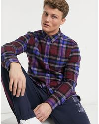 Jack Wills Glebe Checked Shirt - Red