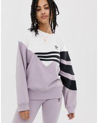 d4106b55 adidas Originals Originals Three Stripe Chunky Knitted Jumper in ...