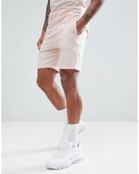 Gym King - Shorts In Beige With Logo - Lyst