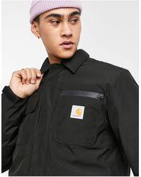 Carhartt WIP - Черное Пальто С Технологией Gore-tex Michigan-черный Цвет - Lyst