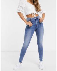 Pimkie Super Skinny High Waisted Jean - Blue