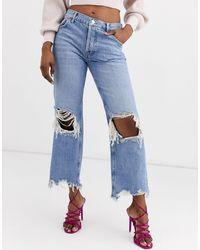 Free People Maggie - Mom jeans - Blu
