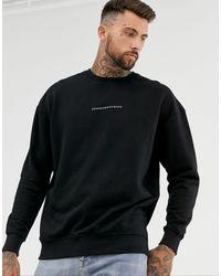 Good For Nothing Oversized Sweatshirt - Black