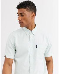 Ben Sherman Однотонная Оксфордская Рубашка С Короткими Рукавами -зеленый