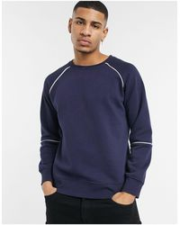 Another Influence Sweatshirt Co-ord With Contrast Piping - Blue