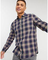 TOPMAN Check Shirt - Blue
