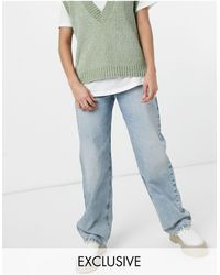 Collusion X014 90s baggy Extreme Dad Jeans - Blue
