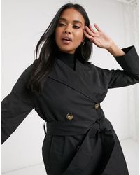 Pimkie Belted Trenchcoat - Black