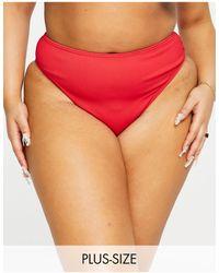Simply Be Mix And Match Textu Bikini Briefs - Red