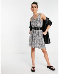 ONLY Nova Short Sleeve Sara Woven Dress - Multicolour