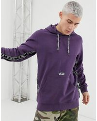 b311d0a4 Reverse Taping Hoodie In Purple - Black