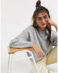 Monki Ida Knitted Sweater - Gray