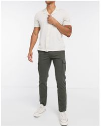 Jack & Jones Intelligence - Pantaloni cargo slim eleganti kaki - Verde