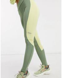 ASOS 4505 Leggings con diseño colour block - Verde
