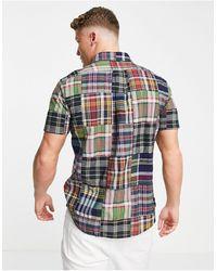Polo Ralph Lauren Рубашка Классического Кроя На Пуговицах В Клетку В Стиле Пэчворк С Логотипом -multi - Многоцветный