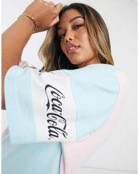 ASOS Coca Cola Oversized Sleep Tee - Blue