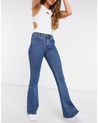 Dr. Denim Macy Mid Rise Flared Jeans - Blue