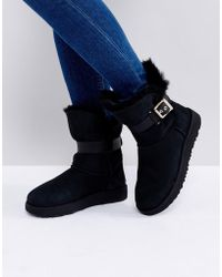 UGG - Jaylyn Strap Black Boots - Lyst