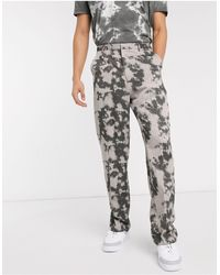 Jaded London Jaded Bleached Pinstripe Loose Fit Pant - Gray