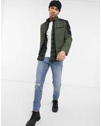 Calvin Klein Байкерская Куртка Из Нейлона Цвета Хаки -зеленый Цвет - Многоцветный
